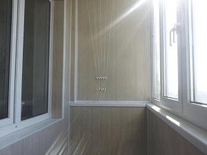 Внутренняя отделка балкона в Запорожье