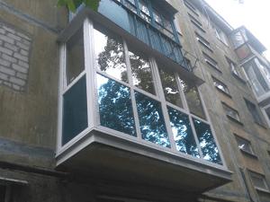 Французский балкон с тонировкой в Запорожье