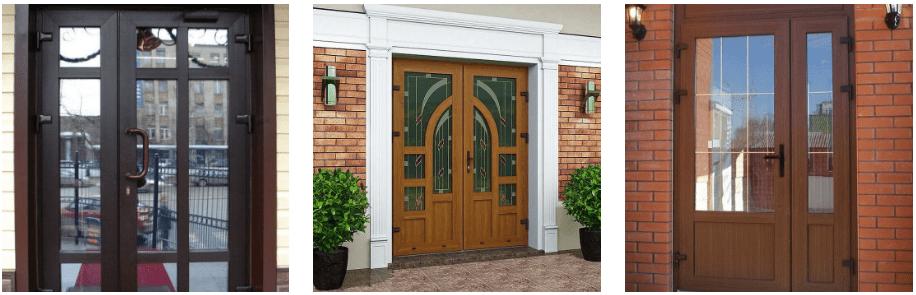 дизайн входных пластиковых дверей